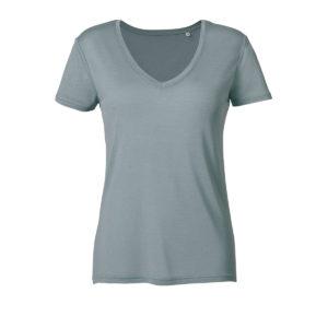 RF247-tshirt-colloV-donna-faggio-blue
